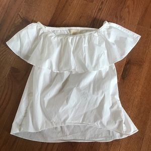 White off shoulder Michael Kors blouse